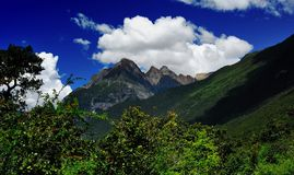 Mountains of the tibetan plateau Stock Image