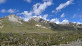 Mountains on Tibetan Plateau, China.  Royalty Free Stock Image