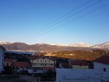 Mountains of Tivat Crna Gora Royalty Free Stock Photography