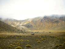 Mountains in Tongariro National Park. Ruapehu District, North Island, New Zealand.  Royalty Free Stock Image