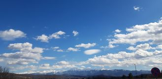 The mountains touch the sky royalty free stock photography