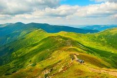 Mountains tourism Royalty Free Stock Photos