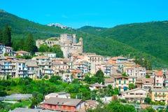 Mountains town. Italy Royalty Free Stock Photo