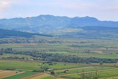 Mountains in Transylvania, Romania stock photo