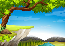 Mountains and trees Royalty Free Stock Photography