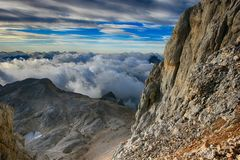 Mountains in Triglav National Park in Slovenia Royalty Free Stock Photography