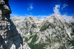 Mountains in Triglav National Park in Slovenia Stock Images