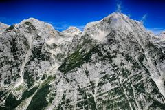 Mountains in Triglav National Park in Slovenia Royalty Free Stock Image