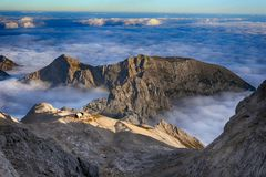 Mountains in Triglav National Park in Slovenia Royalty Free Stock Images