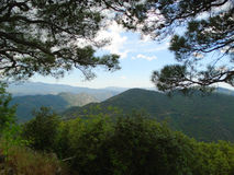 Mountains troodos landscape sea Cyprus island Royalty Free Stock Image