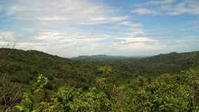 Mountains with tropical forest. Philippines Bohol island. stock video footage