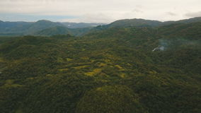 Mountains with tropical forest. Philippines Catanduanes island. stock video