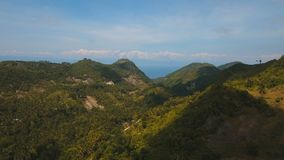 Mountains with tropical forest. Philippines Cebu island. Mountains with rainforest covered with green vegetation and trees on the tropical island, landscape stock video