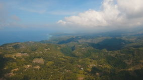 Mountains with tropical forest. Philippines Cebu island. stock video