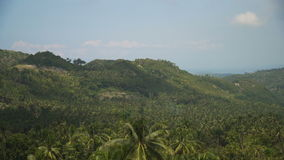 Mountains with tropical forest. Philippines Cebu island. stock footage