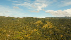 Mountains with tropical forest. Philippines Siargao island. stock video