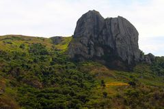 Mountains in a tropical island, Fiji royalty free stock photography