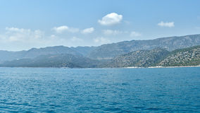 Mountains on the Turkish coast. Kemer Royalty Free Stock Photography