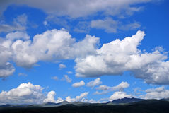 Mountains under blue sky. In Sichuan,China Stock Photography