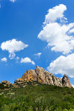 Mountains under the blue sky Royalty Free Stock Photo