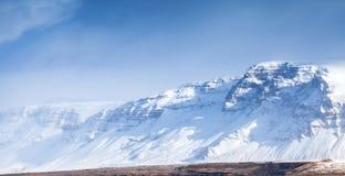 Mountains under blue sky. Reykjavik district, Iceland Royalty Free Stock Photography