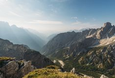 Mountains Under Blue Sky and White Clouds During Daytime Royalty Free Stock Photos