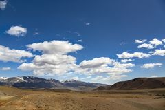 Mountains under cloudy sky Royalty Free Stock Photography