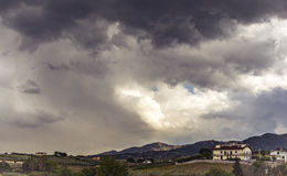 Mountains under siege the storm Stock Photography