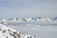 Mountains under snow Stock Photography