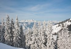 Mountains under snow Royalty Free Stock Photography