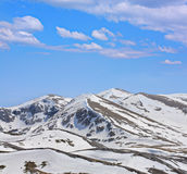 Mountains under snow Royalty Free Stock Image