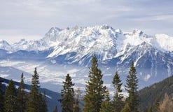 Mountains Under Snow In The Winter. Austria Stock Photos