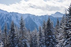 Mountains under snow. Schladming . Austria Royalty Free Stock Photo