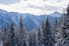 Mountains under snow. Schladming . Austria Royalty Free Stock Photo