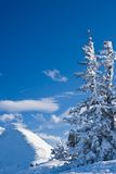 Mountains under snow.  Schladming . Austria Royalty Free Stock Photos