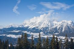 Mountains under snow. Schladming . Austria Stock Image