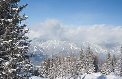 Mountains under snow. Schladming . Austria Royalty Free Stock Photography