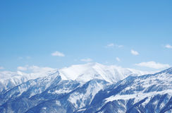 Mountains under snow in winter Royalty Free Stock Photography