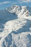 Mountains under snow in the winter. Royalty Free Stock Image