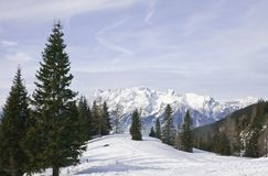 Mountains under snow in the winter.  Austria Royalty Free Stock Photography