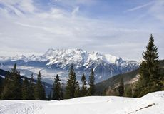 Mountains under snow in the winter.  Austria Royalty Free Stock Photos
