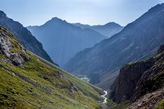 Mountains under sunlight Stock Photos