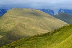 Mountains in Upper Svaneti, popular trekking destination ,Caucasus mountains Stock Photos