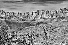 Mountains in Utah - Black and White Royalty Free Stock Images