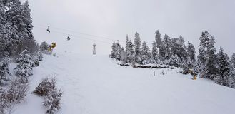 Mountains in utah winter royalty free stock image