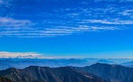 Mountains of Uttarakhand. With Trishul peak in background Royalty Free Stock Image