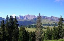 Mountains in Val Gardena Royalty Free Stock Images