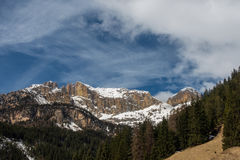 Mountains in the Valley di Fassa Stock Photography