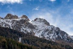 Mountains in the Valley di Fassa near Moena Trentino Italy Royalty Free Stock Photos