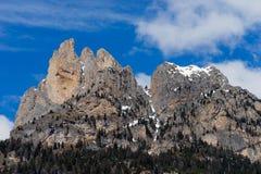 Mountains in the Valley di Fassa near Pozza di Fassa Trentino It Royalty Free Stock Images